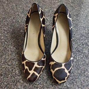 Talbots Giraffe Print Heels